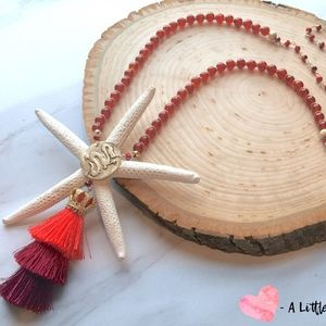 A Little Vintage Happy Jewelry - Mulan//Disney Gold Tassel Necklace//Handmade